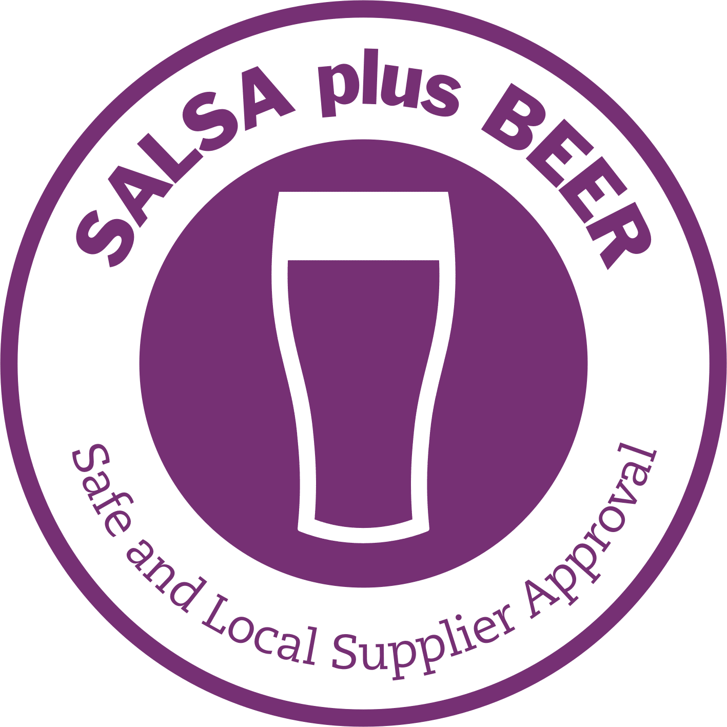 Salsa plus Beer safe and Local Supplier Approval logo