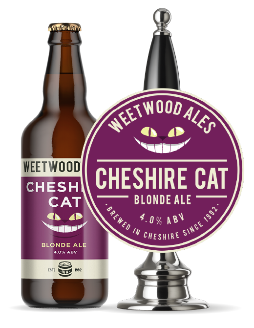 Weetwood Ales Cheshire Cat Blonde Ale Bottle and Pump