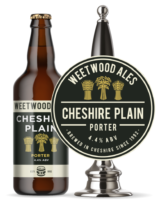 Weetwood Ales Cheshire Plain Porter Bottle and Pump