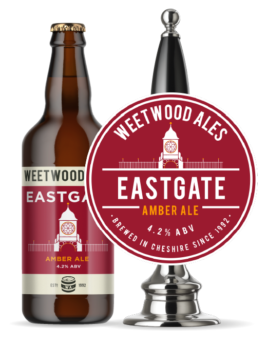 Weetwood Ales Eastgate Amber Ale bottle and pump