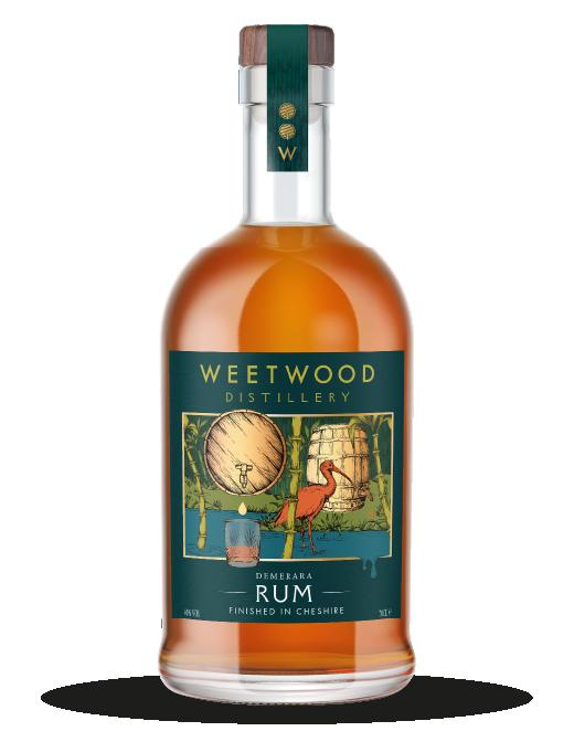 Weetwood Distillery Demerara Rum Bottle