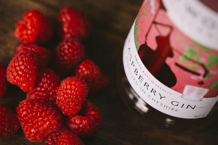 Close up of Weetwood Distillery raspberry gin