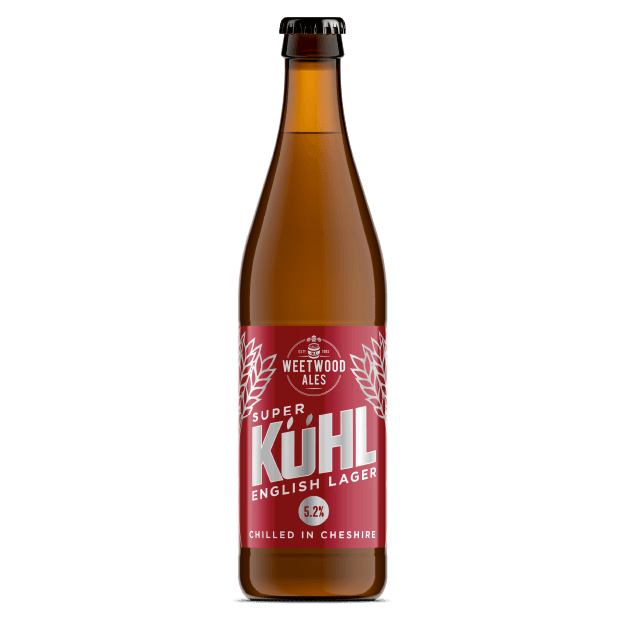 Super Kuhl Lager Product Bottle Weetwood Ales